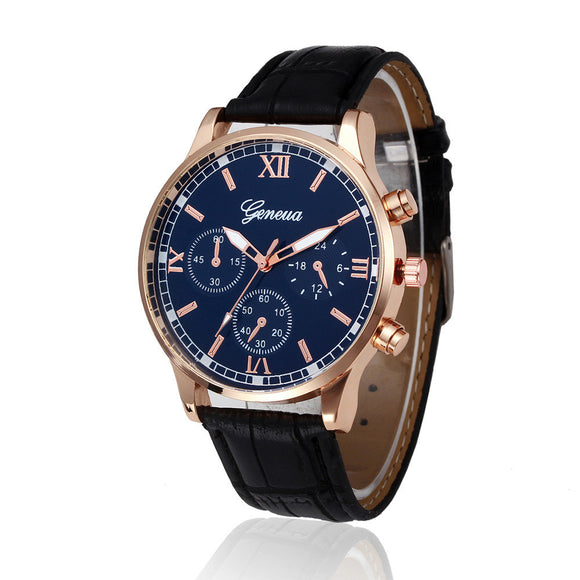 Men's Watch, Fashion Casual PU Leather