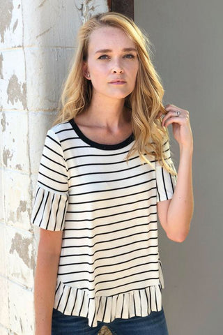 Zoe Striped Top