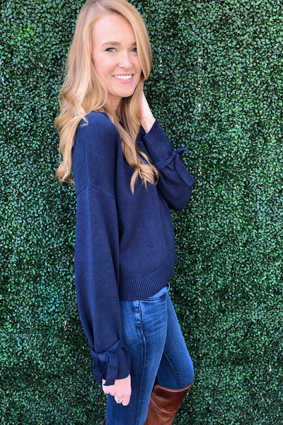 Emma Tie-Sleeve Sweater