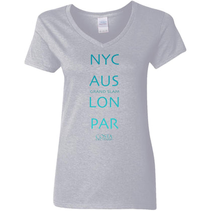 Grand Slam Ladies' V-Neck Tennis T-Shirt