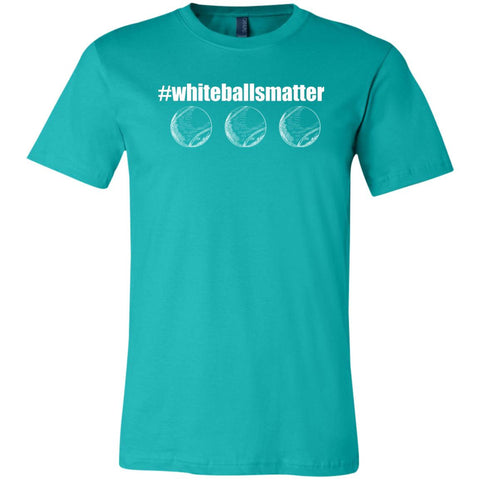 White Balls Matter Basic Short-Sleeve Tennis T-Shirt