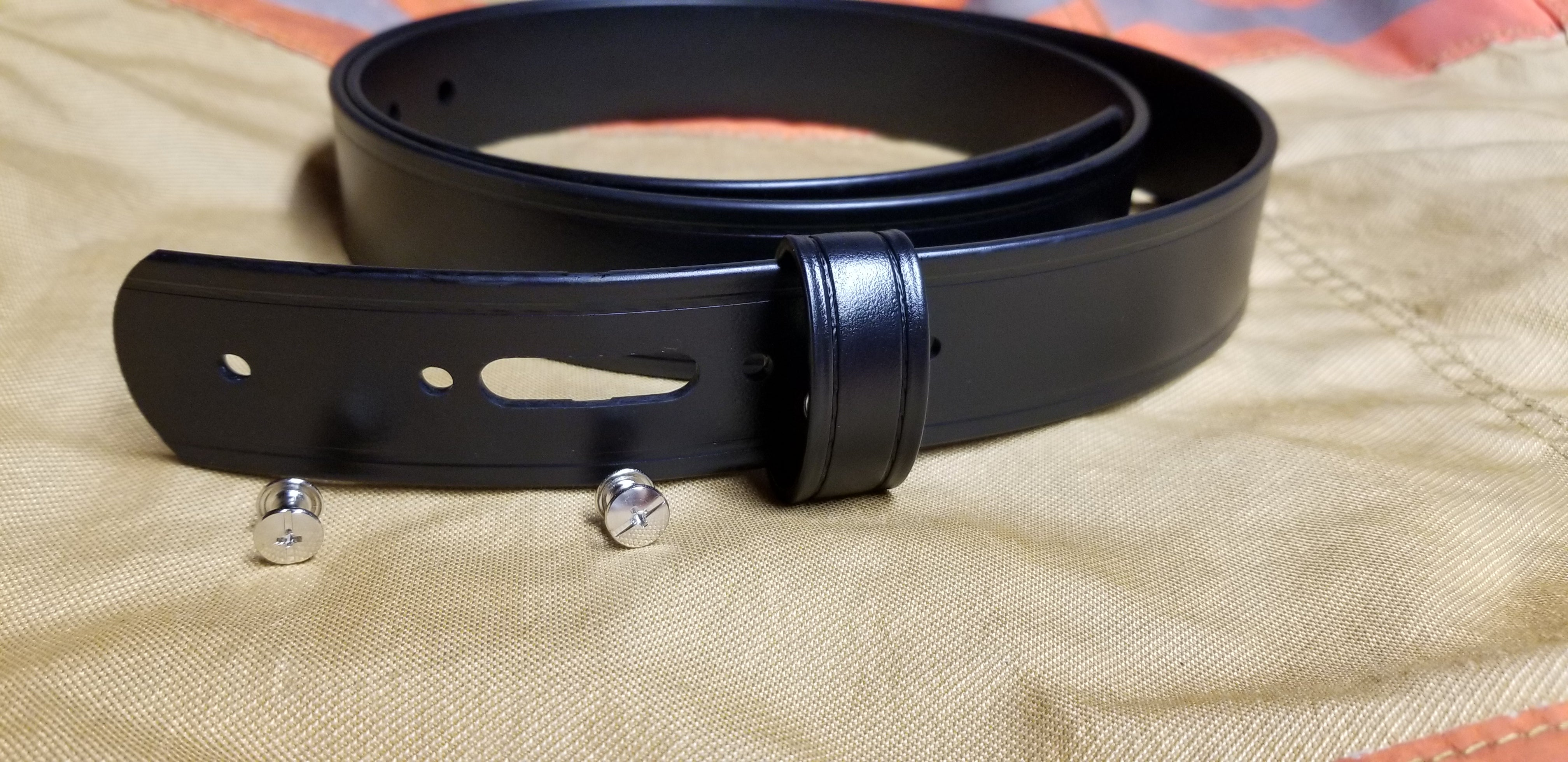 Tactical Bio Belt for use with Custom Buckle 1.5 Width BLACK KEEPER