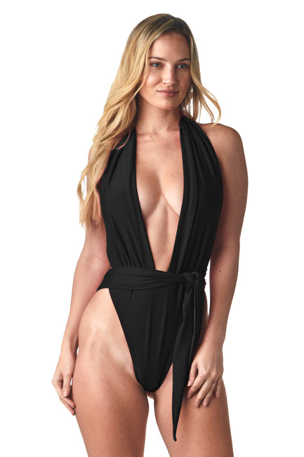 Black Shelly One Piece