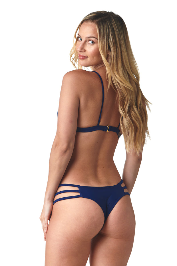 Navy Peek-a-Boo Bottom