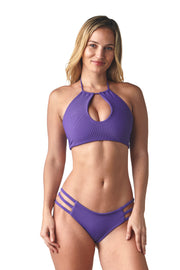 Ribbed Violet Imagine Top