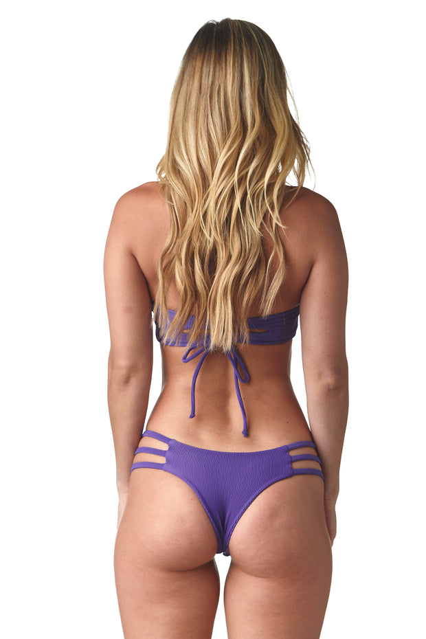 Ribbed Violet Peek-a-Boo Bottom