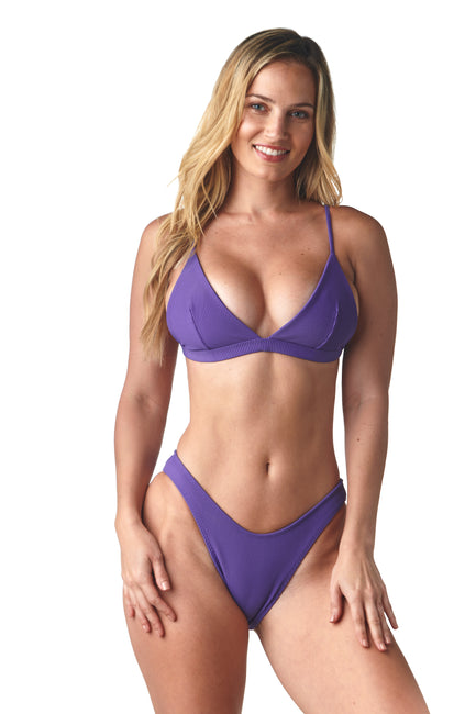 Ribbed Violet Radical Top