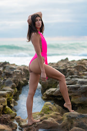 Hot Pink Shelly One Piece