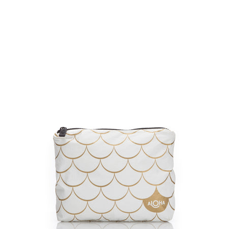 White Mermaid Pouch in Gold