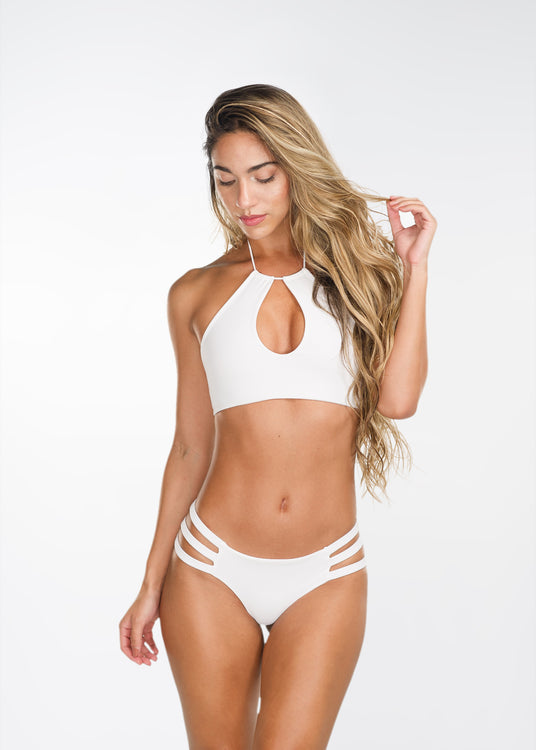 White Peek-a-Boo Top