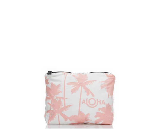 Small Coco Palms Pouch in Guava