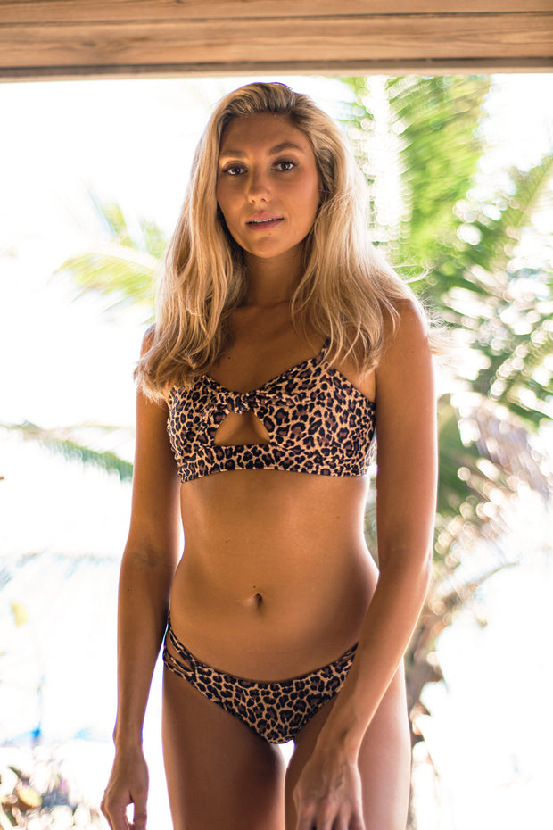 Leopard Sunrise Top