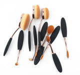 Oval makeup brush set - Deluxe Set