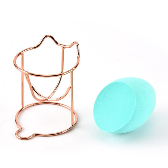 Beauty Sponge Stand - Rose Gold Cat
