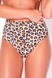 Orange Leopard Bikini Bottoms
