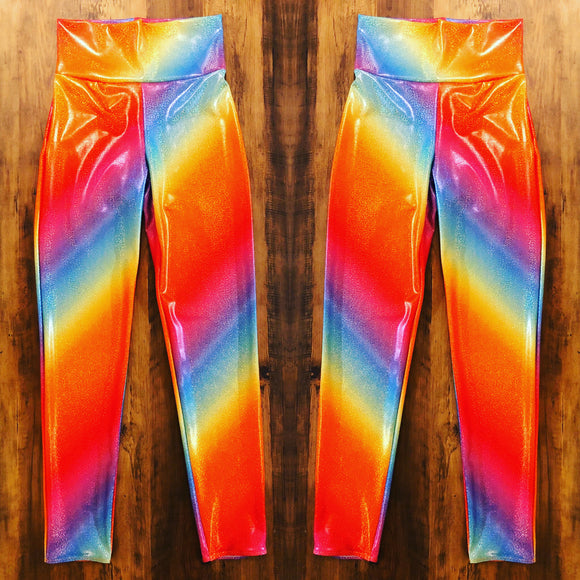 Holographic Rainbow Leggings