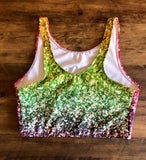 Glitter Rainbow Cropped Top