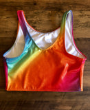 Holographic Rainbow Cropped Top