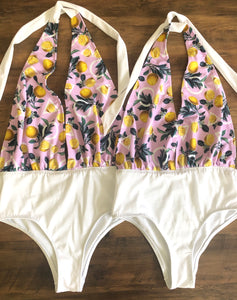 Limited Edition Lemon Halter Swimsuit - Size 8 & 10