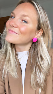 Neon Pink Stud Earrings