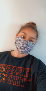 Purple Leopard Face Mask