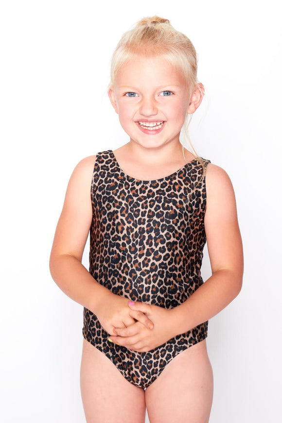 Girls Classic Leopard Swimsuit