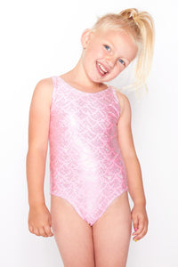 Girls Pink Mermaid Swimsuit