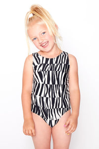 Girls Zebra Swimsuit