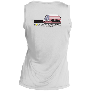 LST352 Sport-Tek Ladies' Sleeveless Moisture Absorbing V-Neck: HOLY CITY PICKLEBALL