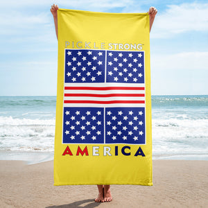 Towel: PickleSTRONG™ Stars & Stripes Court Design