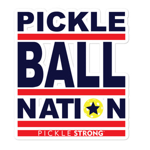 Bubble-free stickers: PICKLEBALL NATION