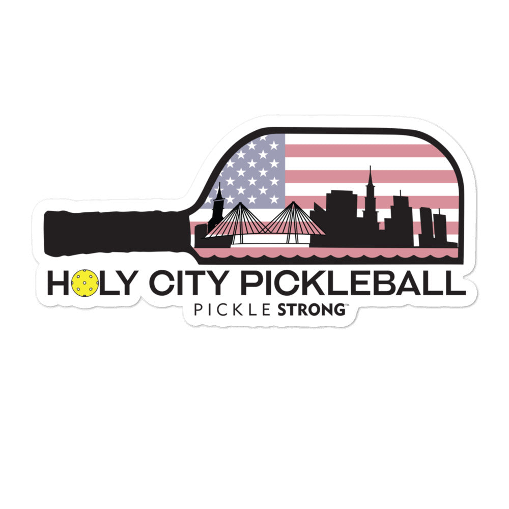 Bubble-free stickers: HOLY CITY PICKLEBALL
