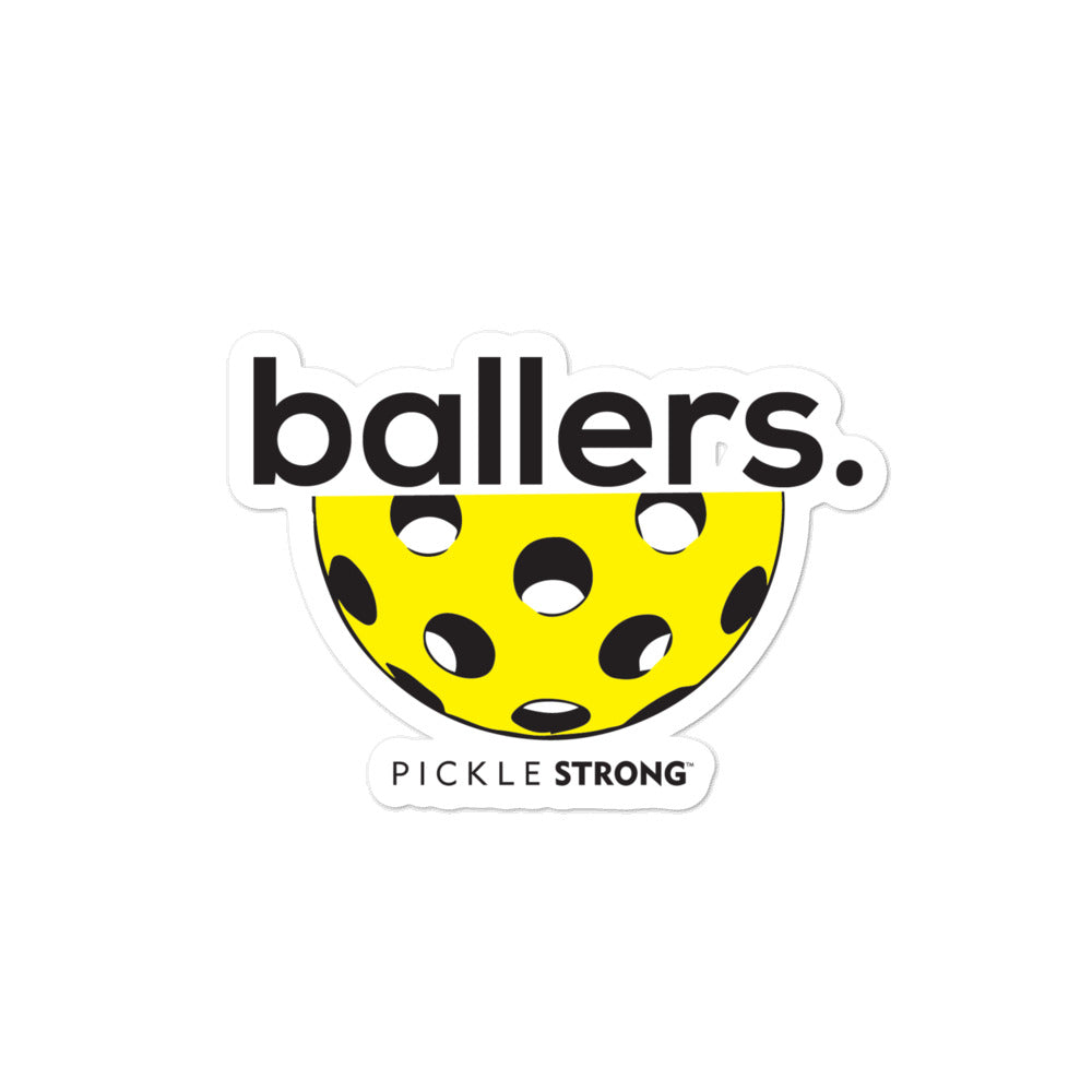Bubble-free stickers: ballers
