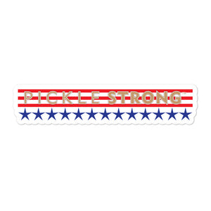 Bubble-free stickers: PICKLESTRONG GOLD STARS/STRIPES
