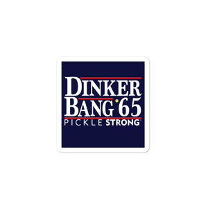 Bubble-free stickers: Dinker Bang 65