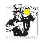 Bubble-free stickers; Uncle Sam