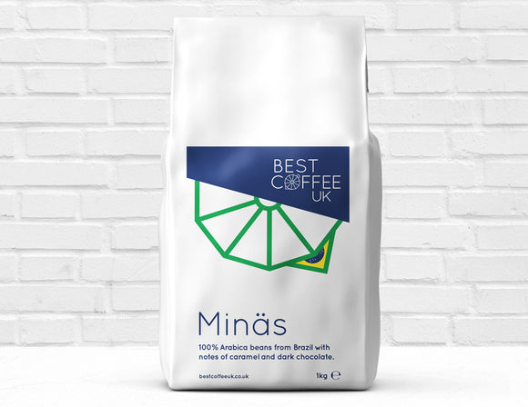 Best Coffee Brazil Single Estate Minas 1kg Whole Coffee Beans