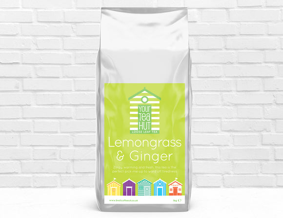 Your Tea Hut Lemongrass & Ginger Loose Leaf Tea Best Coffee UK