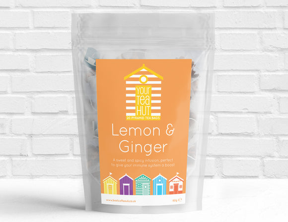 Your Tea Hut Pyramid Tea bags Lemon & Ginger Best Coffee UK