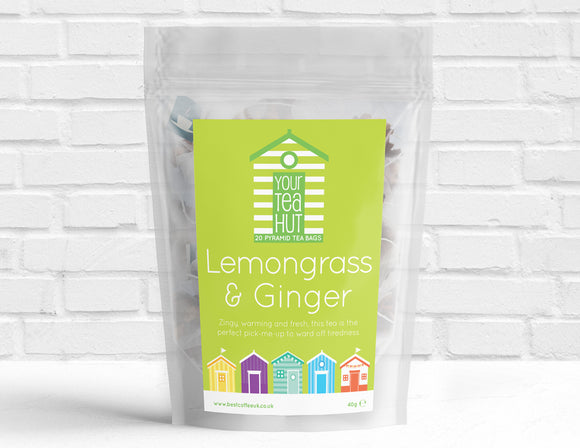Your Tea Hut Lemongrass & Ginger Tea Pyramid Tea Bags Best Coffee UK
