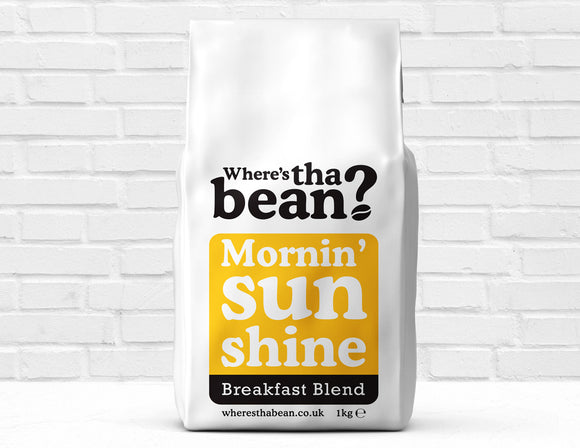 Where's Tha Bean - Mornin' Sunshine Breakfast Blend Coffee Beans 1kg Best Coffee UK