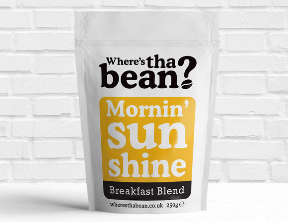 Where's Tha Bean - Mornin' Sunshine Breakfast Blend Filter Coffee 250g Best Coffee UK