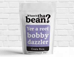 Where's Tha Bean - Reet Bobby Dazzler Costa Rica Filter Coffee 250g Best Coffee UK