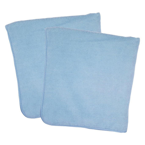 2-Piece Premium Microfiber Towelswith Satin Trim - Don Aslett