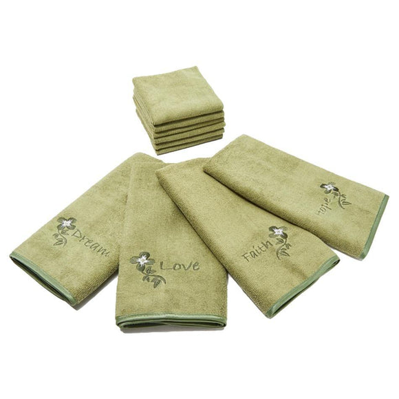 10 Piece Inspiring Words Microfiber Towel Set by Don Aslett - Don Aslett