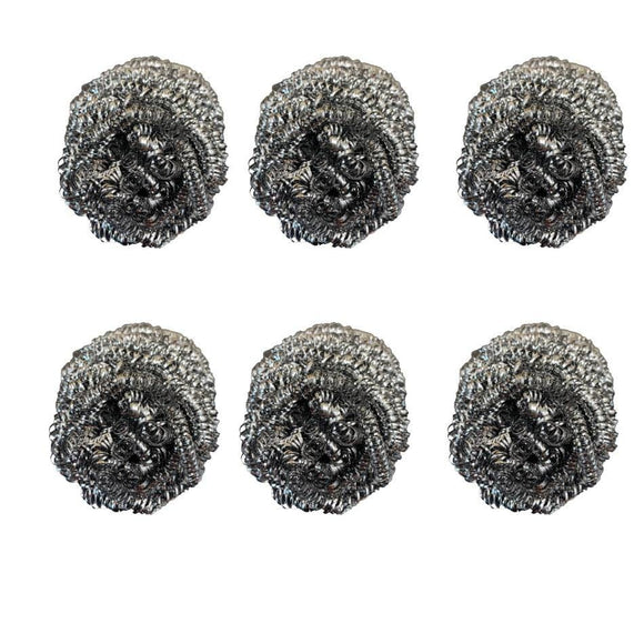Stainless Steel Scrubber set of 6