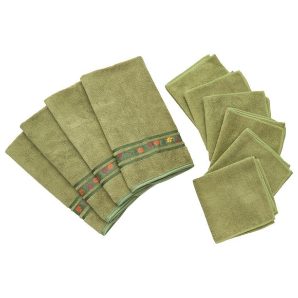 10-Piece Microfiber Kitchen Towels & Ribbon Trim