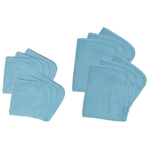 12-Pc Premium Microfiber Cloths with Satin Trim - Don Aslett