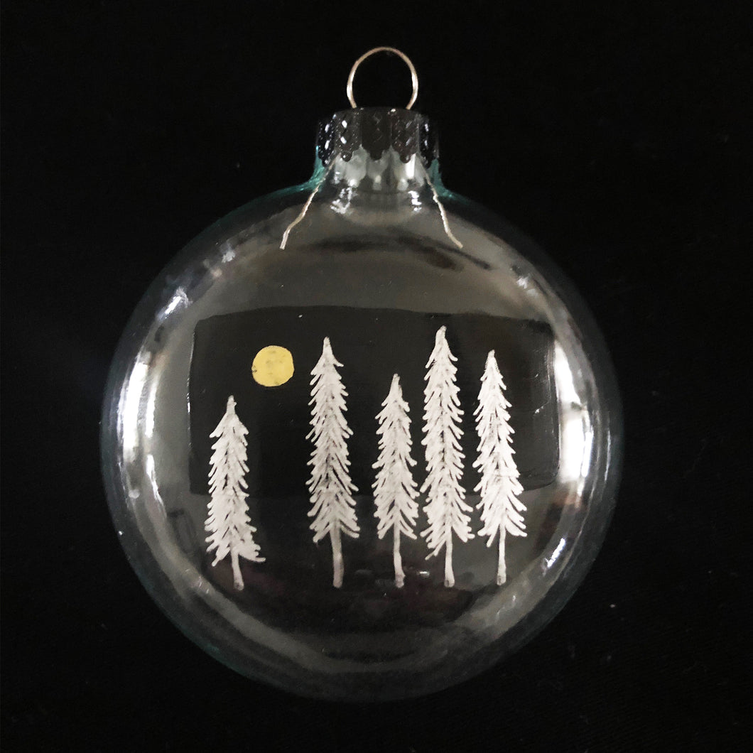 SILVER FOREST ORNAMENT