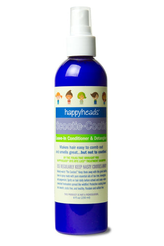 Happyheads® Scootie-Cootie® Leave-in Conditioner & Detangler repels cooties with essential oils